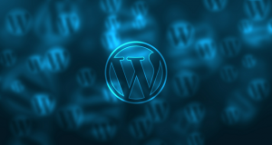 wordpress logo screensaver